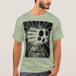 Hand shaped Grunge Scary Ghost T-Shirt