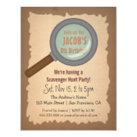 Scavenger Hunt Invitations Zazzle