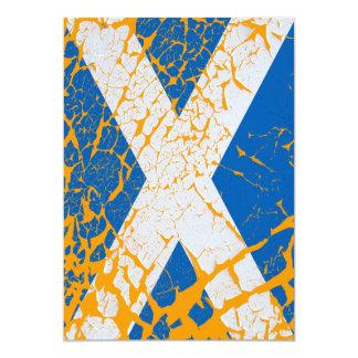 Grunge Scottish Flag Card