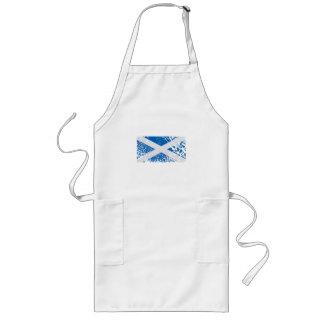 Grunge Scottish Flag Long Apron