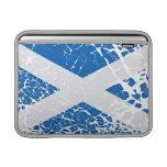 Grunge Scottish Flag MacBook Sleeves