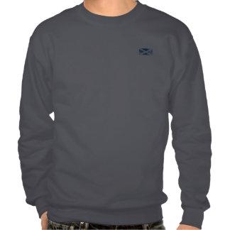 Grunge Scottish Flag Pullover Sweatshirts