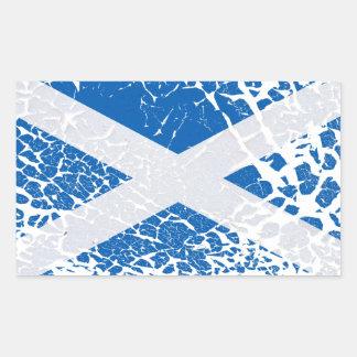Grunge Scottish Flag Rectangular Sticker