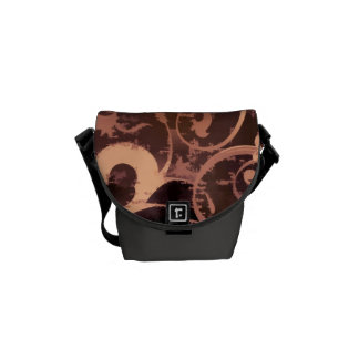 Grunge Scroll Fleur Bag Messenger Bags