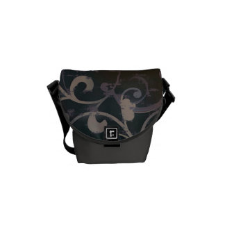 Grunge Scroll Fleur Bag Messenger Bag