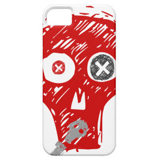 Grunge Scull in Red and Grey iPhone SE/5/5s Case