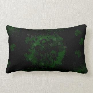 Grunge Shamrock Lumbar Pillow