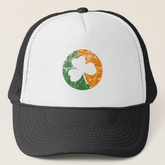 Grunge Shamrock Trucker Hat