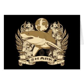 Grunge Shark Card