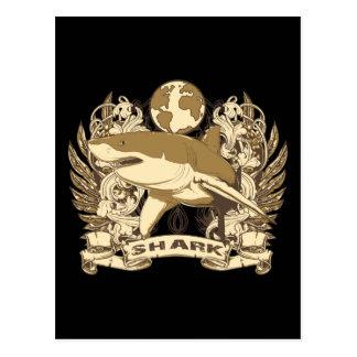 Grunge Shark Postcard