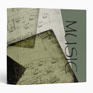 """Grunge Sheet Music 1.5"""" Binder"""
