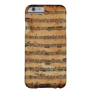 Grunge Sheet Music Music-lover's Barely There iPhone 6 Case