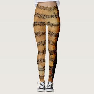 Grunge Sheet Music Music-lover's Leggings