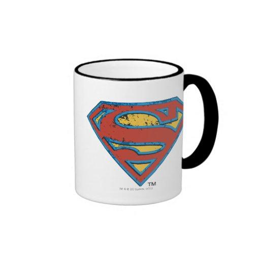 Grunge Shield Ringer Coffee Mug