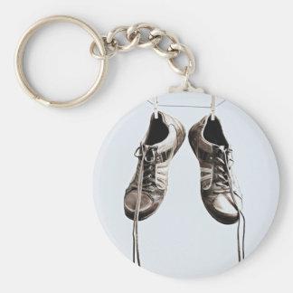 Grunge Shoes Basic Round Button Keychain