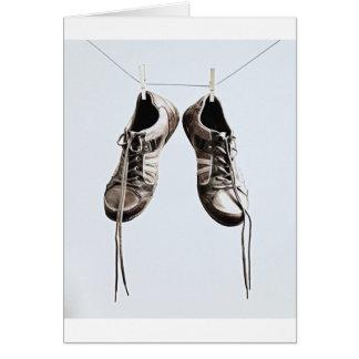 Grunge Shoes Greeting Card