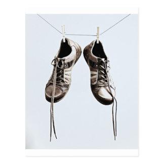 Grunge Shoes Postcard