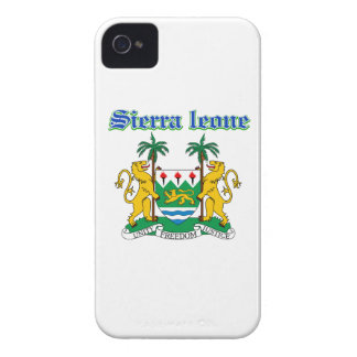 Grunge Sierra Leone coat of arms designs iPhone 4 Cover