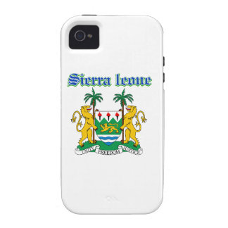 Grunge Sierra Leone coat of arms designs iPhone 4/4S Cover
