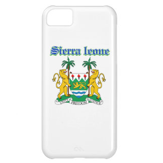 Grunge Sierra Leone coat of arms designs Cover For iPhone 5C