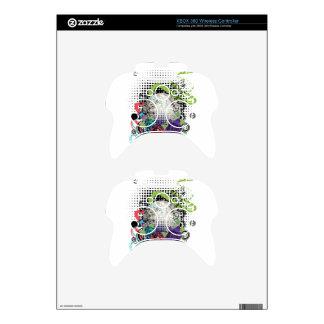 Grunge Silver Disco Ball Xbox 360 Controller Decal