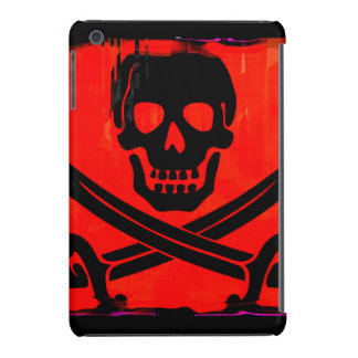 Grunge Skull and Cross Swords Creepy Artwork iPad Mini Cover