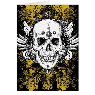 Grunge Skull Card