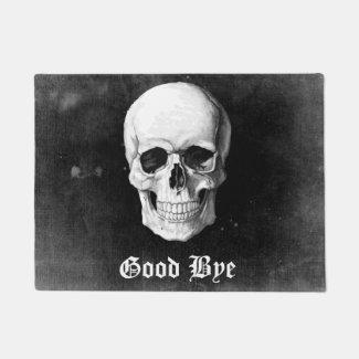 Grunge Skull Doormat