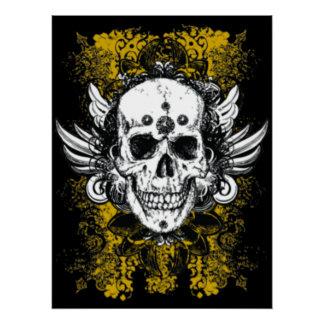 Grunge Skull Poster