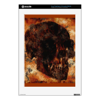 Grunge Skull Rustic Art Playstation 3 Skin Decal For The PS3