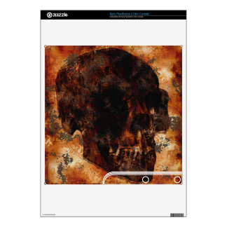 Grunge Skull Rustic Art Playstation 3 Skin PS3 Slim Console Decals