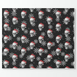 "Grunge Skull Santa Wrapping Paper<br><div class=""desc"">Show your holiday spirit with this Grunge Skull Santa gift wrapping paper and have a Merry Creepmas!</div>"