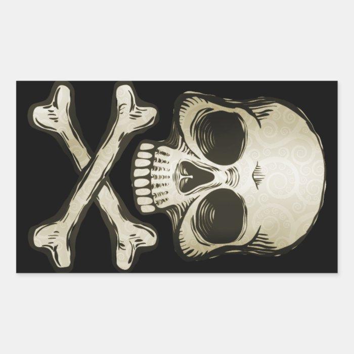 Grunge Skull Stickers