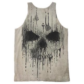 Grunge Skull Unisex Tank All-Over Print Tank Top