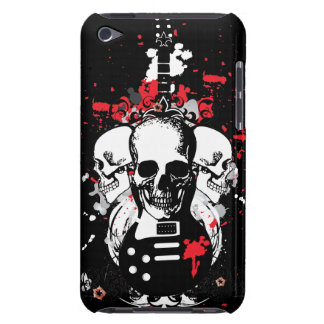 Grunge Skulls and Guitar iPod Touch Case-Mate Case