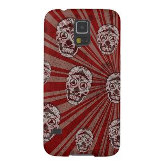 Grunge Skulls on red starburst Galaxy S5 Covers