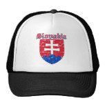 Grunge Slovakia coat of arms designs Trucker Hat