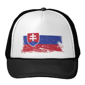 Grunge Slovakia Flag Trucker Hat