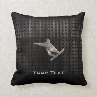Grunge Snowboarding Throw Pillow