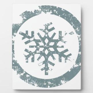 Grunge Snowflake Plaque