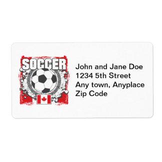 Grunge Soccer Canada Label
