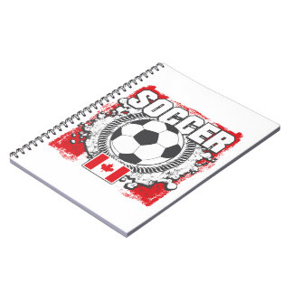 Grunge Soccer Canada Notebook