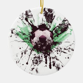 Grunge Soccer Ceramic Ornament