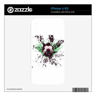 Grunge Soccer Decal For The iPhone 4S