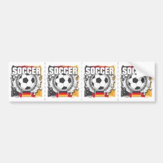 Grunge Soccer Germany Bumper Sticker