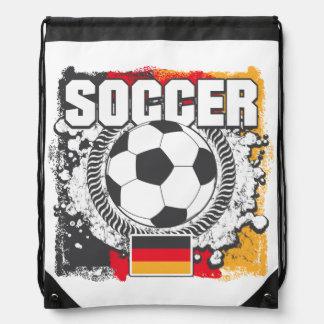 Grunge Soccer Germany Drawstring Bag