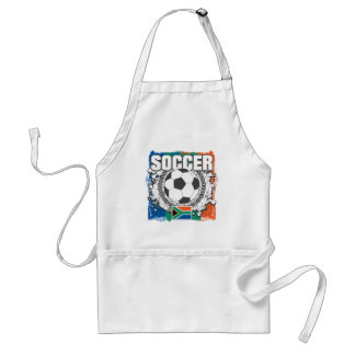 Grunge Soccer South Africa Apron