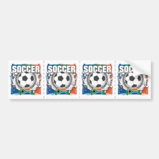 Grunge Soccer South Africa Car Bumper Sticker