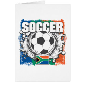 Grunge Soccer South Africa Greeting Card
