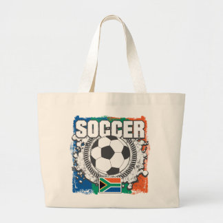 Grunge Soccer South Africa Jumbo Tote Bag